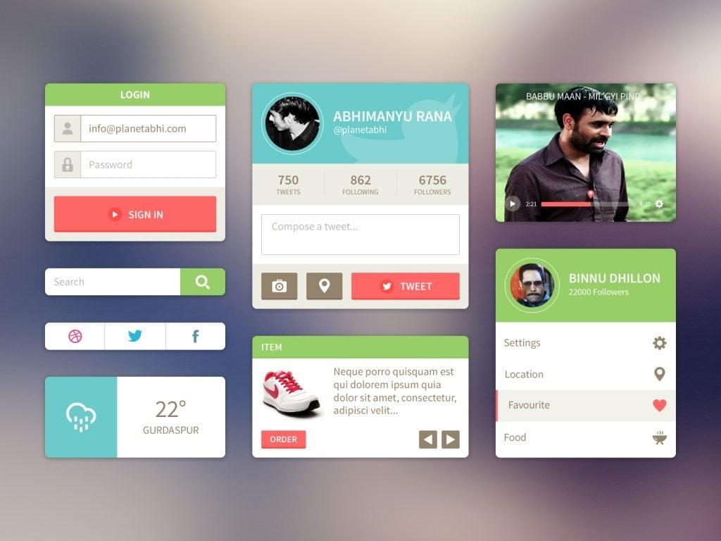 Flat web design whodunit monsterpost for Net designs