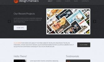 Free Website Template for Design Studio – Easy Way to Share Your Creativity with The World