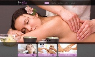Free Website Template – Elegant Design for Spa Salon Site