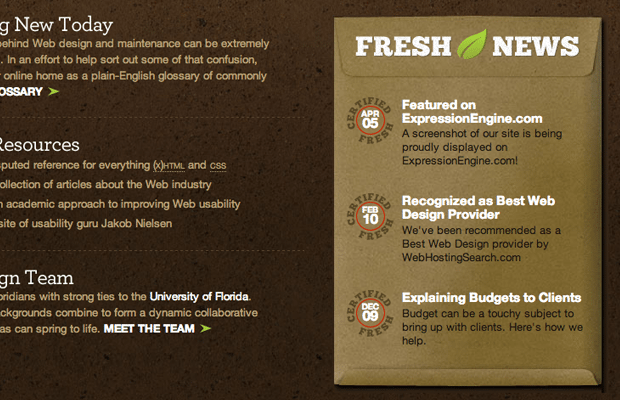 flourish website design agency studio interface
