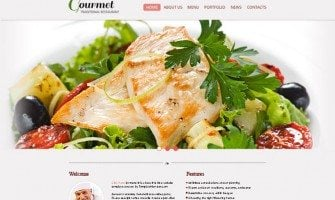 Free Restaurant Website Template – Setting Up a Positive Tone
