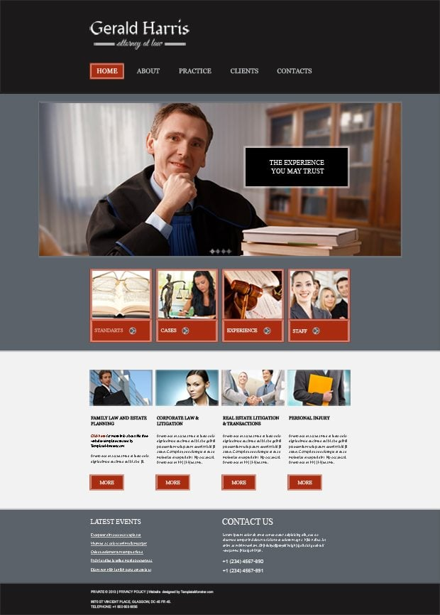 Law   Legal Free Website Template   MonsterPost OZxbymLR