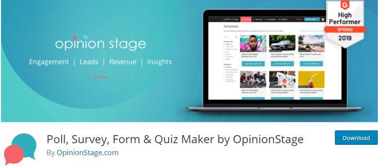 WordPress plugin Poll, Survey, Form & Quiz Maker.