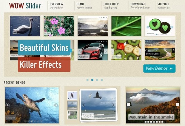 Free HTML5 Sliders: Just Slide…and Click