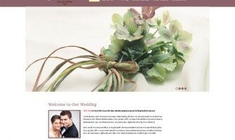 Monday Life Hack for Designers – Free Theme for Wedding Site