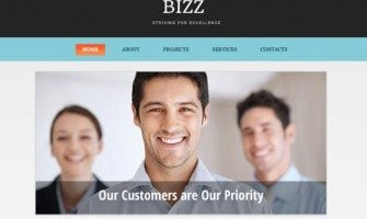 Free HTML5 Business Theme in Clean Corporate Style