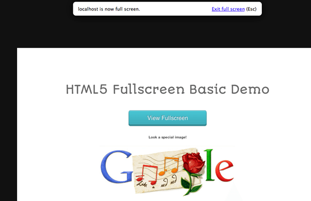 html5 jquery plugin fullscreen open source tutorial demo