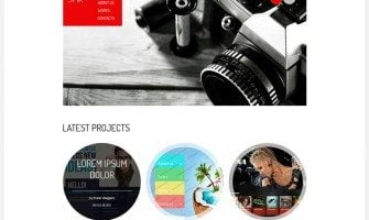 Free HTML5 Theme for Portfolio. jQuery Camera Slideshow Included
