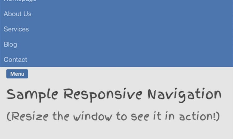 How to Make a Responsive Slide-Down Navigation [CSS3 + JavaScript]