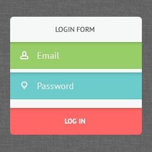 Free PSD Login Forms