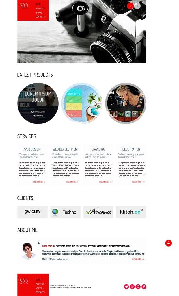 Free HTML5 Theme for Portfolio
