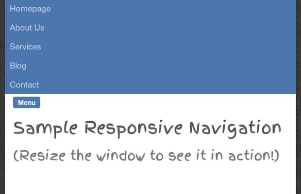 responsive slide-down navigation