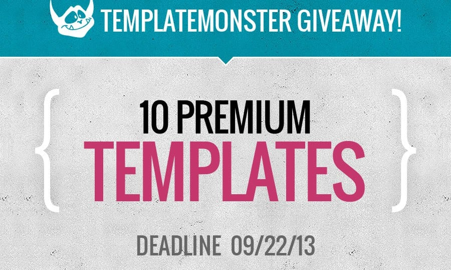 The Big Giveaway from TemplateMonster: TEN Days, TEN Premium Templates, TEN Winners
