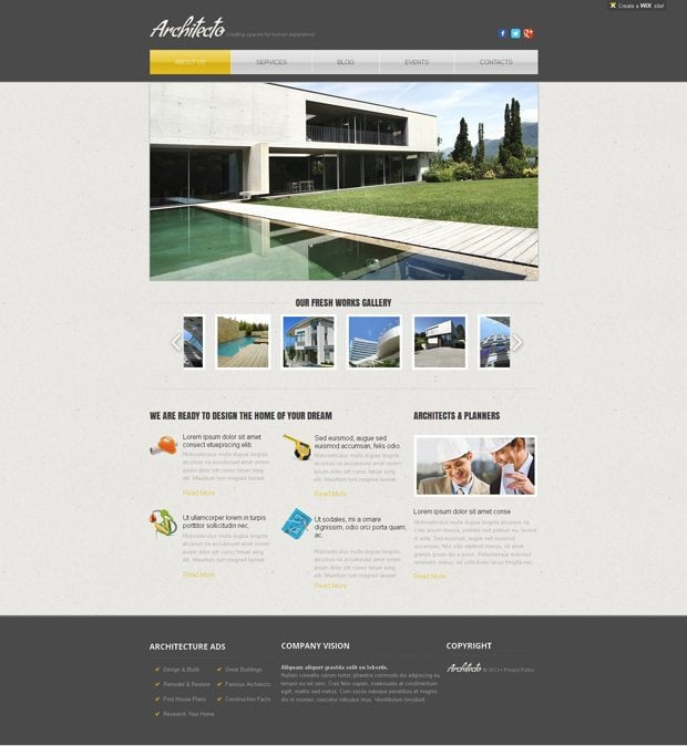 Premium WIX Website Templates. Proudly Produced By