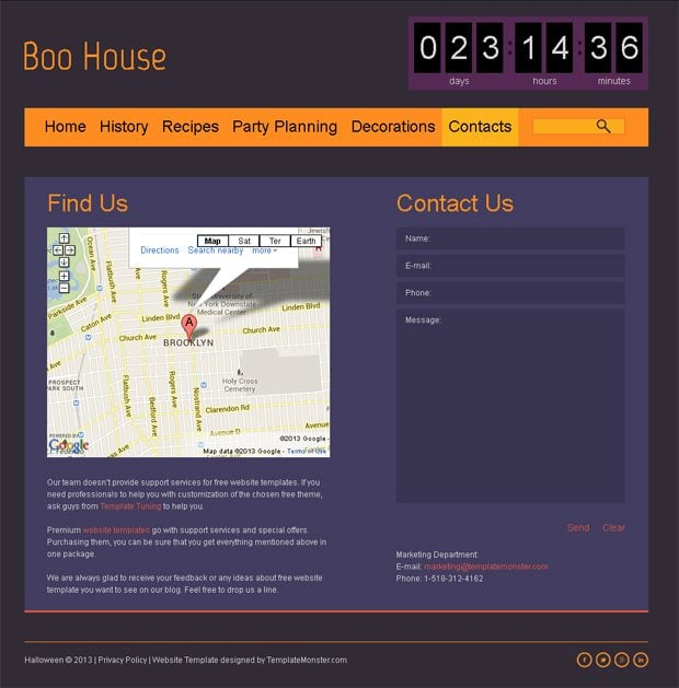Halloween Free HTML5 Theme