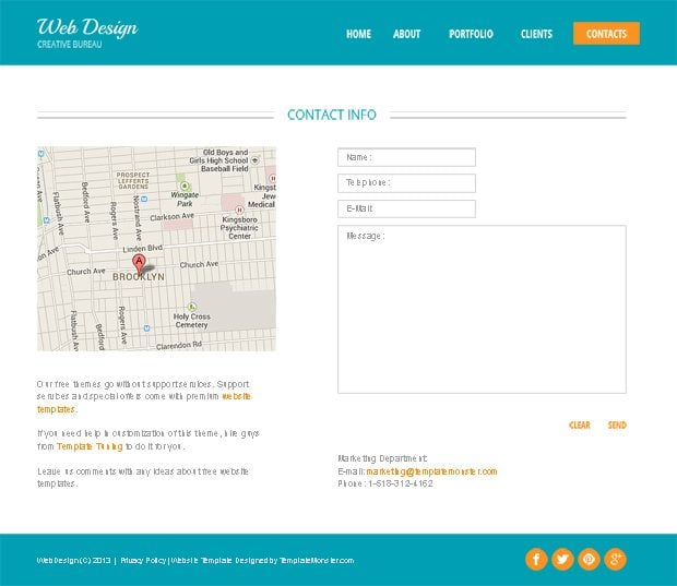 Design Studio Free HTML5 Theme