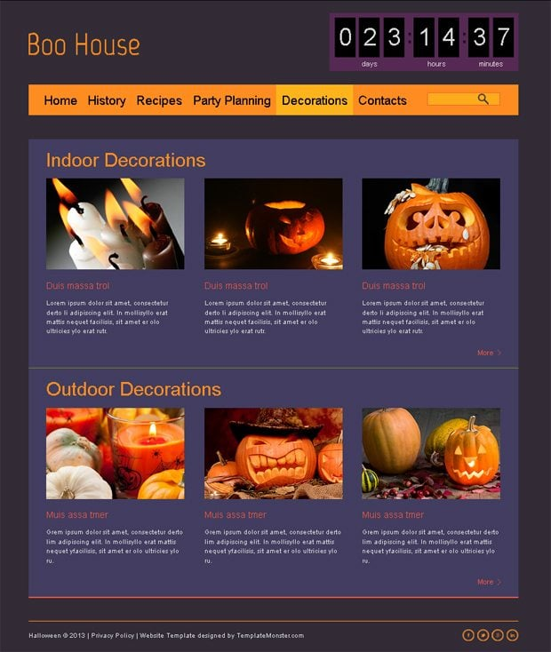 Our Favorite Creepy Creation Of The Week Halloween Free Html5 Theme