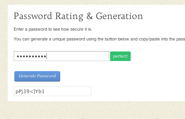 password generation and testing