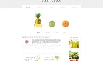 New in Freebies Collection – Minimal HTML5 Template for Organic Food Website