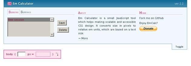 calculators for web designers