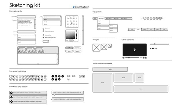 Mocking Up Interfaces  Free Wireframing Kits for Photoshop