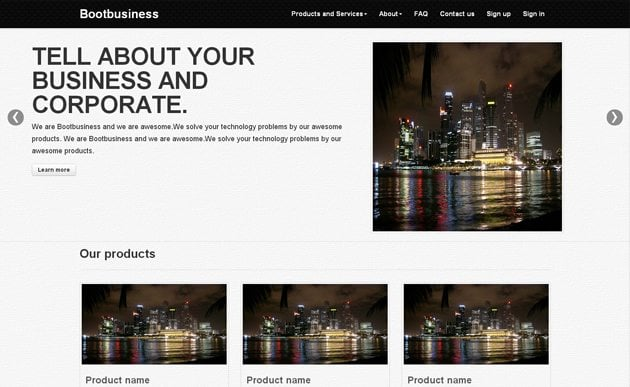 Free Bootstrap Templates