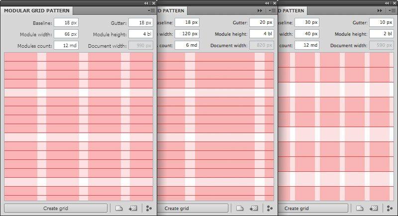 Photoshop Grid Templates: Designing Through the Line