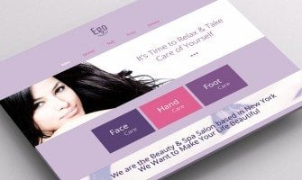 Meet Radiant Orchid – The Color of The Year in Free HTML5 Theme for Spa Salon