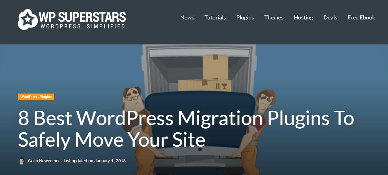 transfer wordpress