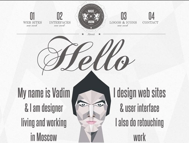 Websites with Hipster Logos