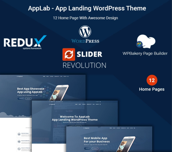AppLab - App Landing WordPress Theme