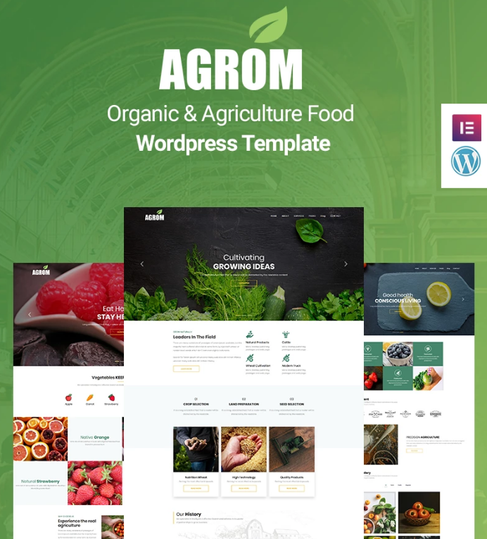 Agrom - Organic & Agriculture Food WP Theme