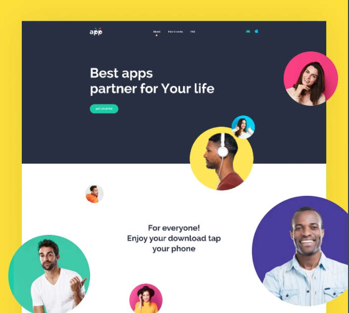 App - Software WP Template with Elementor Builder