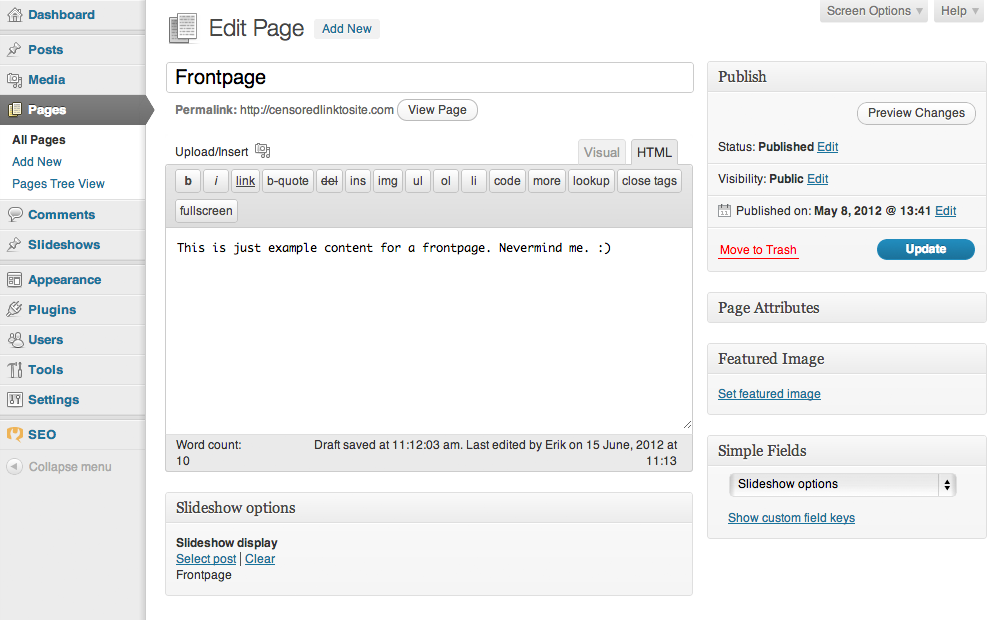 Implement dynamically WordPress website sections