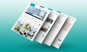 Website Design as a Visual Feast. Fresh Spring Freebie in a Persian Green