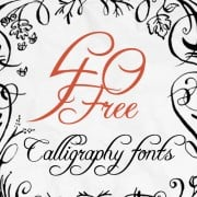 The Art of Calligraphy – 40 Free Fonts for Creative Writing