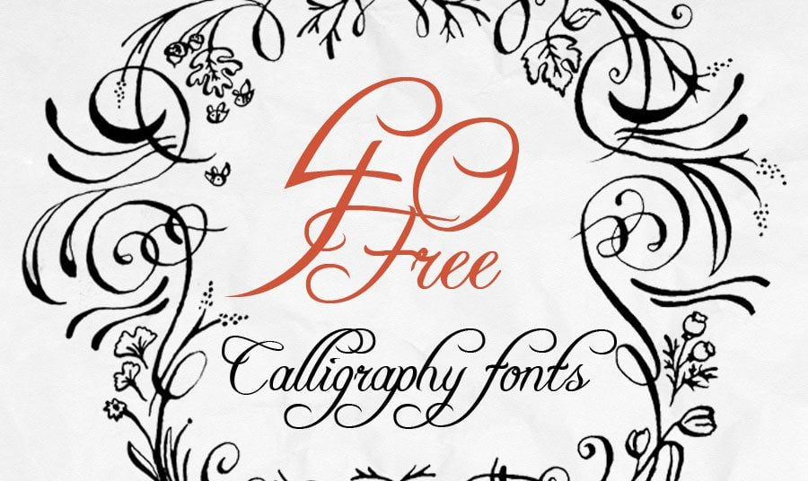 The Art of Calligraphy - 40 Free Fonts for Creative Writing