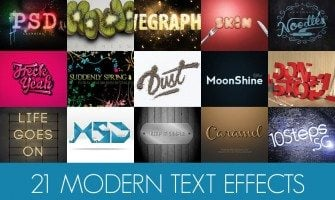 21 Modern Photoshop Text Effects Tutorials
