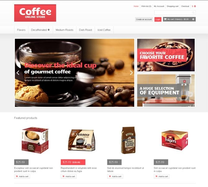 Coffee Website Designs