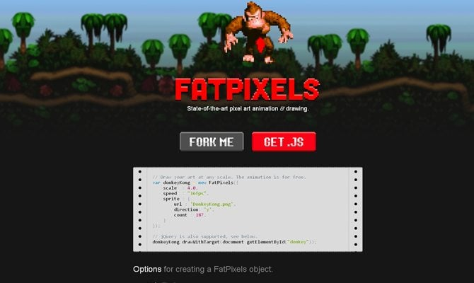 pixel art web design