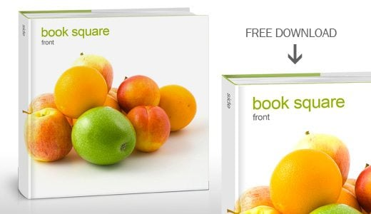 Free Book Mockup Square Format