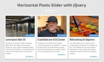 Coding a Responsive Horizontal Posts Slider using CSS3 and jQuery