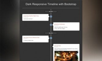 Build a Vertical Timeline Archives Page Using Bootstrap