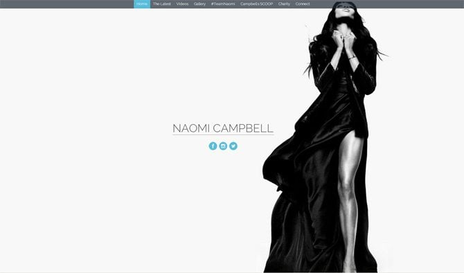 Celebrity Websites Designs