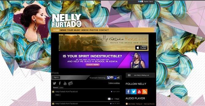 Celebrity Websites Designs