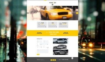 Don't Make Them Walk Home in the Rain! Free Theme for Taxi Company