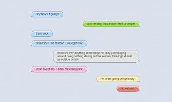 Pure CSS Chat Bubbles for Instant Messaging UI