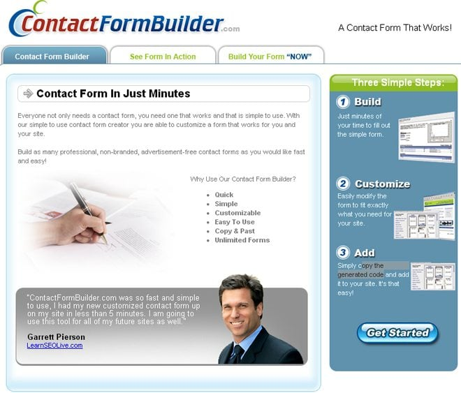 free contact form service