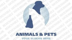Animals Pets Logo Template 2