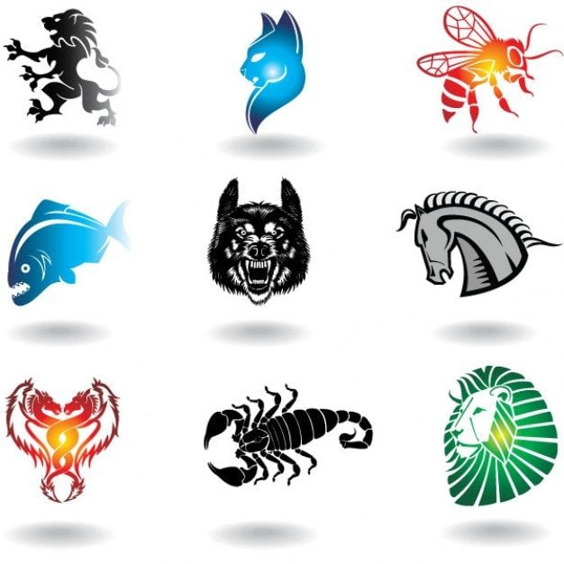 Animals objects for logo design